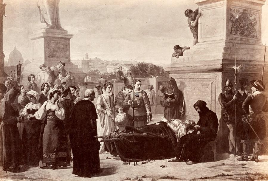 Труп Беатрис де Ченчи выставлен на мосту Сант-Анджело.jpg