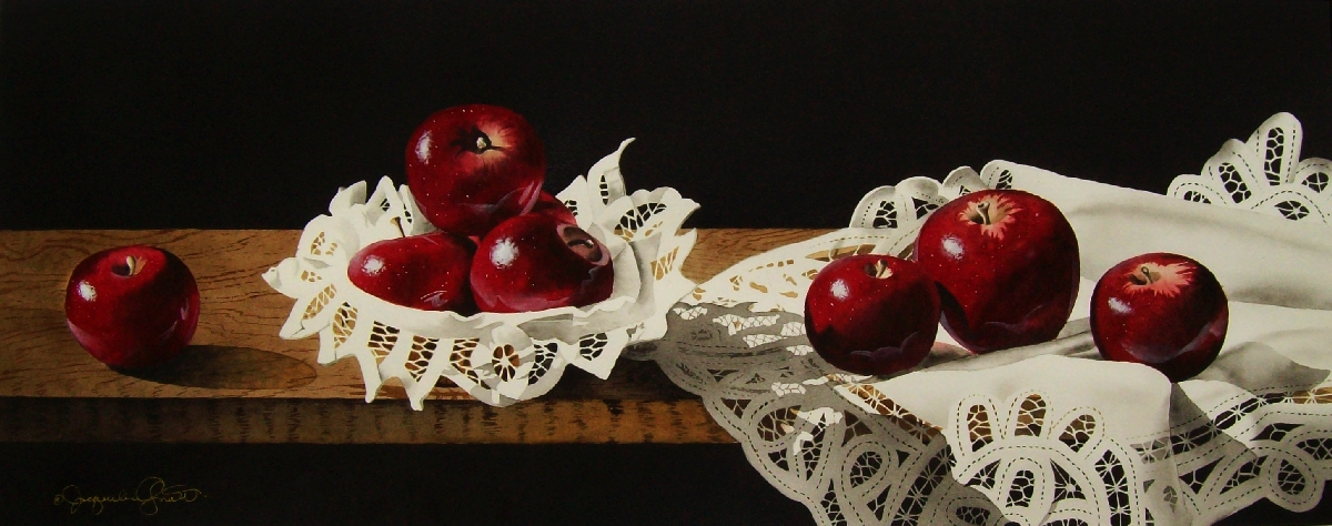 Still Life with Apples & Lace