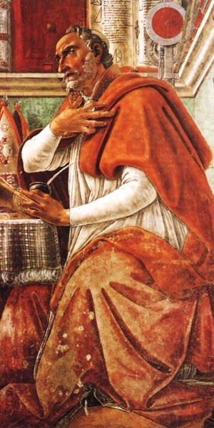 Портрет отца Церкви Августина Блаженного, епископа Гиппонского (354 — 430) Сандро Боттичелл