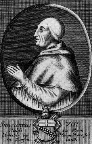 Римский папа Иннокентий VIII, автор пресловутой «Буллы о ведовстве»