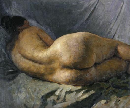 Г. Горелов. Лежащая обнаженная. 1934