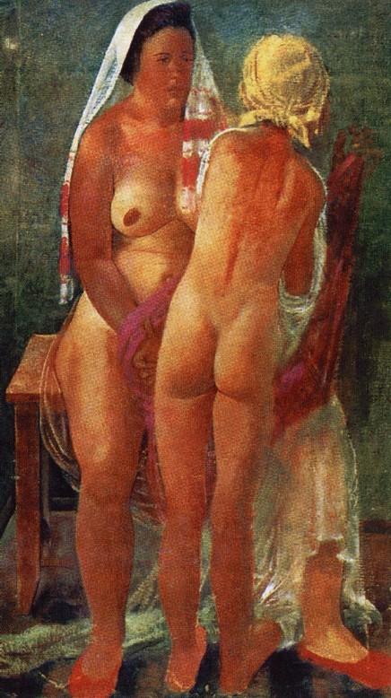 А. Самохвалов. После бани. 1927
