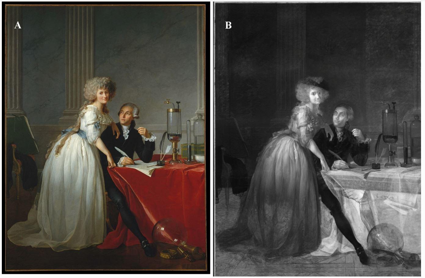 Жак-Луи Давид. Портрет Антуана Лорана Лавуазье и его жены. 1788 (6).JPG
