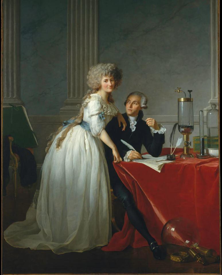 Жак-Луи Давид. Портрет Антуана Лорана Лавуазье и его жены. 1788 (8).JPG