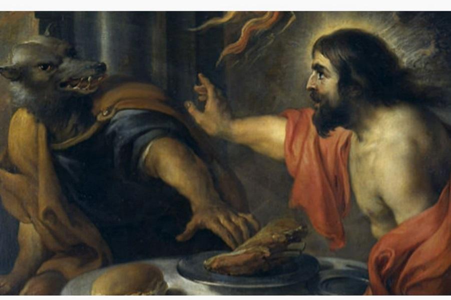 Ликаон и Зевс, фрагмент.JPG