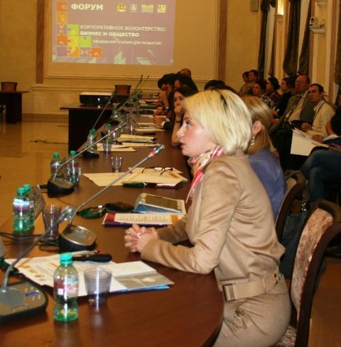 Выступление Татьяны Шахнес на форуме Корпоративное волонтерство Бизнес и общество