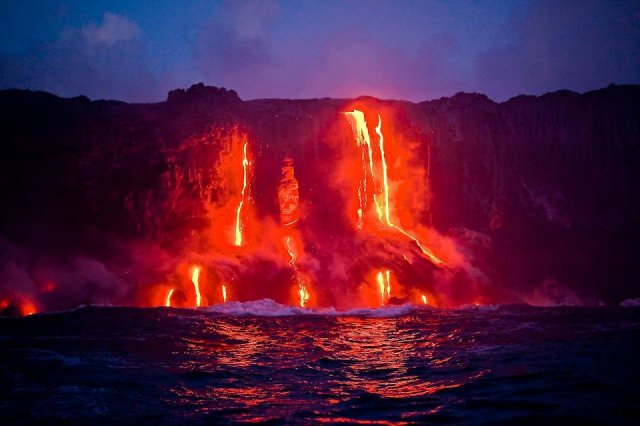 ActivevolcanoonthebigislandofHawaii