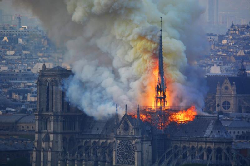 Пожар в Notre-Dame