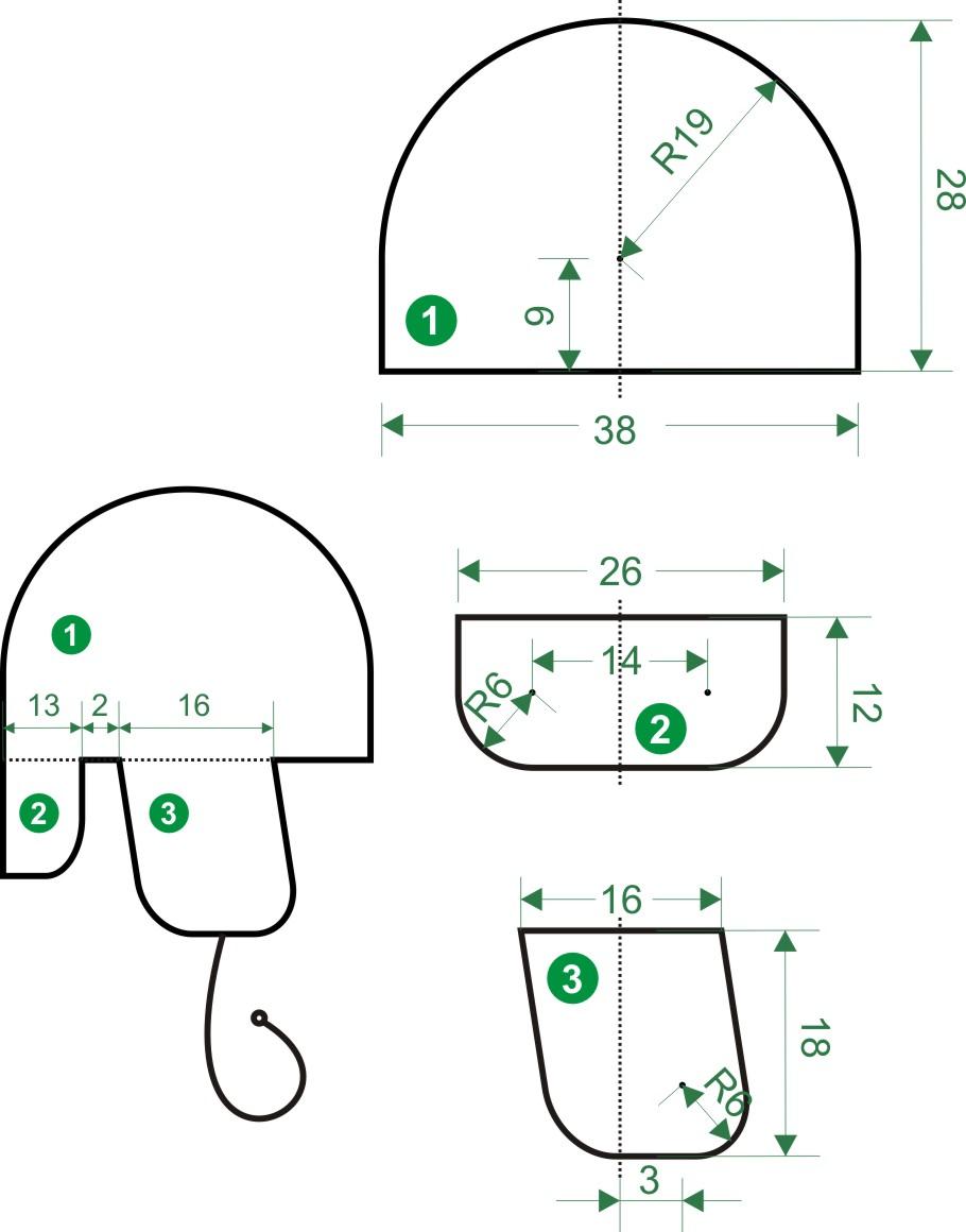 Как сделать выкройку шапки на девочку