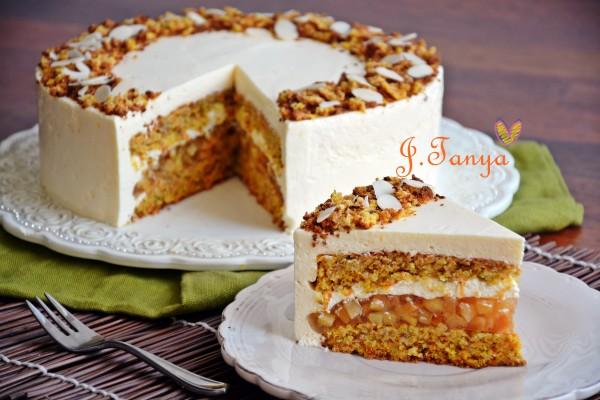 как украсить морковный торт