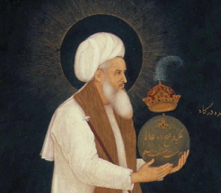 Bichitr._Shaykh_Mu'in_al-Din_Chishti_Holding_a_Globe,_detail_of_miniature_from_Minto_Album,_c._1610-18,_India,_Chester_Beatty_Library,_Dublin