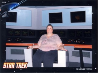 In Captain Kirk's chair