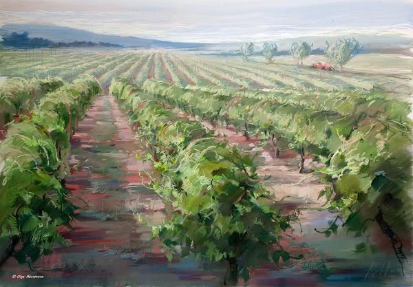 Виноградники. Прованс 100х144, 2012