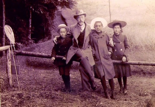 Прокудин - Горский и его дети: Дмитрий, Екатерина и Михаил