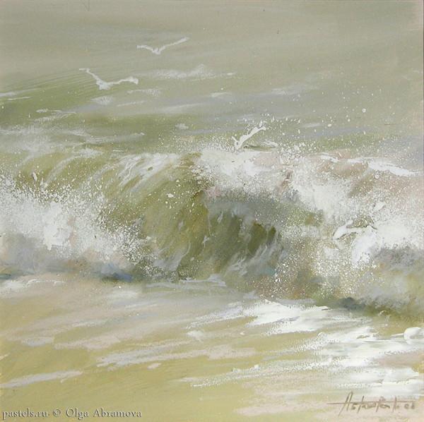 Холодные воды Нормандии, 53х53, 2008