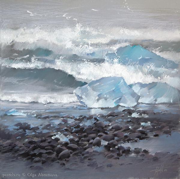 Исландия. Льдины и океан 50х50, 2014