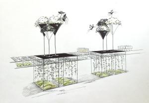 мои эскизы для выставки 7 цветов
