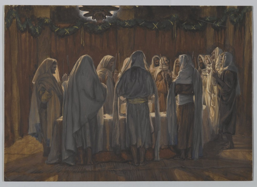220. Тайная вечеря, 1886-94, 21.7 x 30.6 cm, Бумага, акварель по графиту