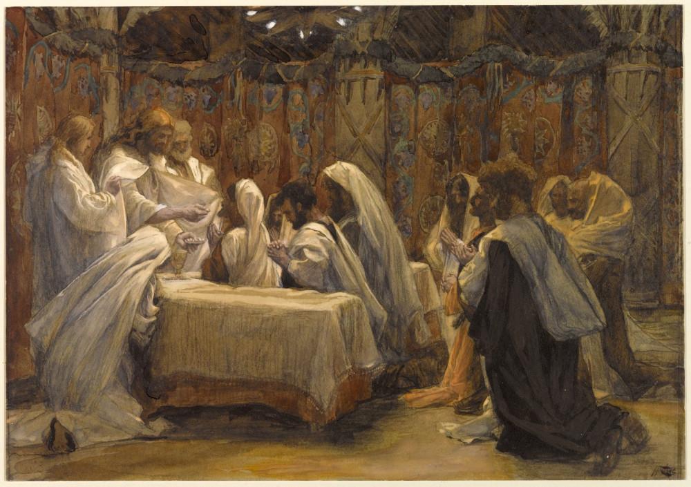 223. Причащение Апостолов, 1886-94, 24 x 34.3 cm, Бумага, акварель по графиту