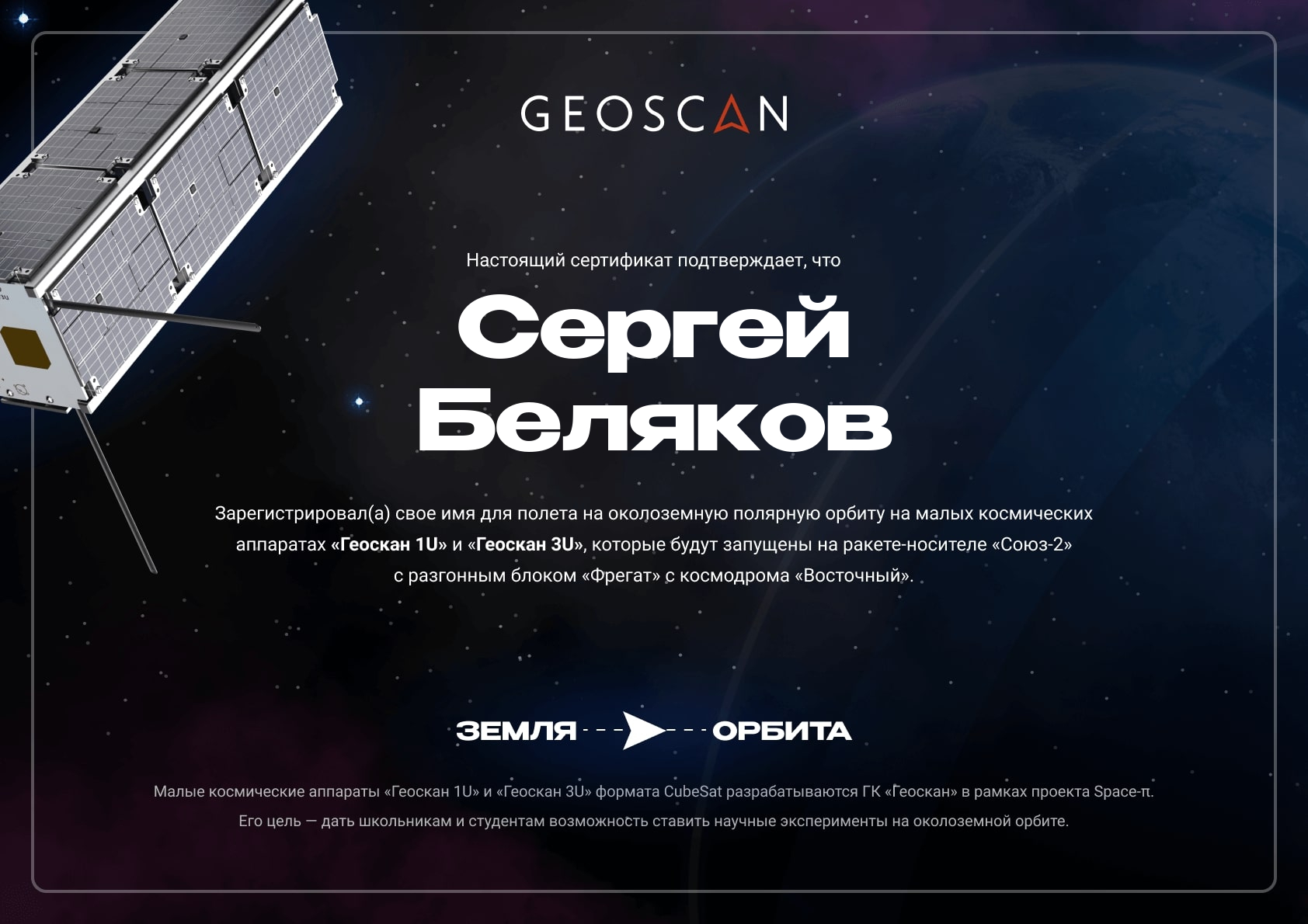 certificateСБ