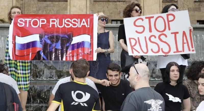 протест грузия