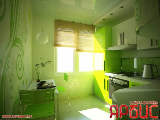 Дизайн кухни на 6 кв метрах
