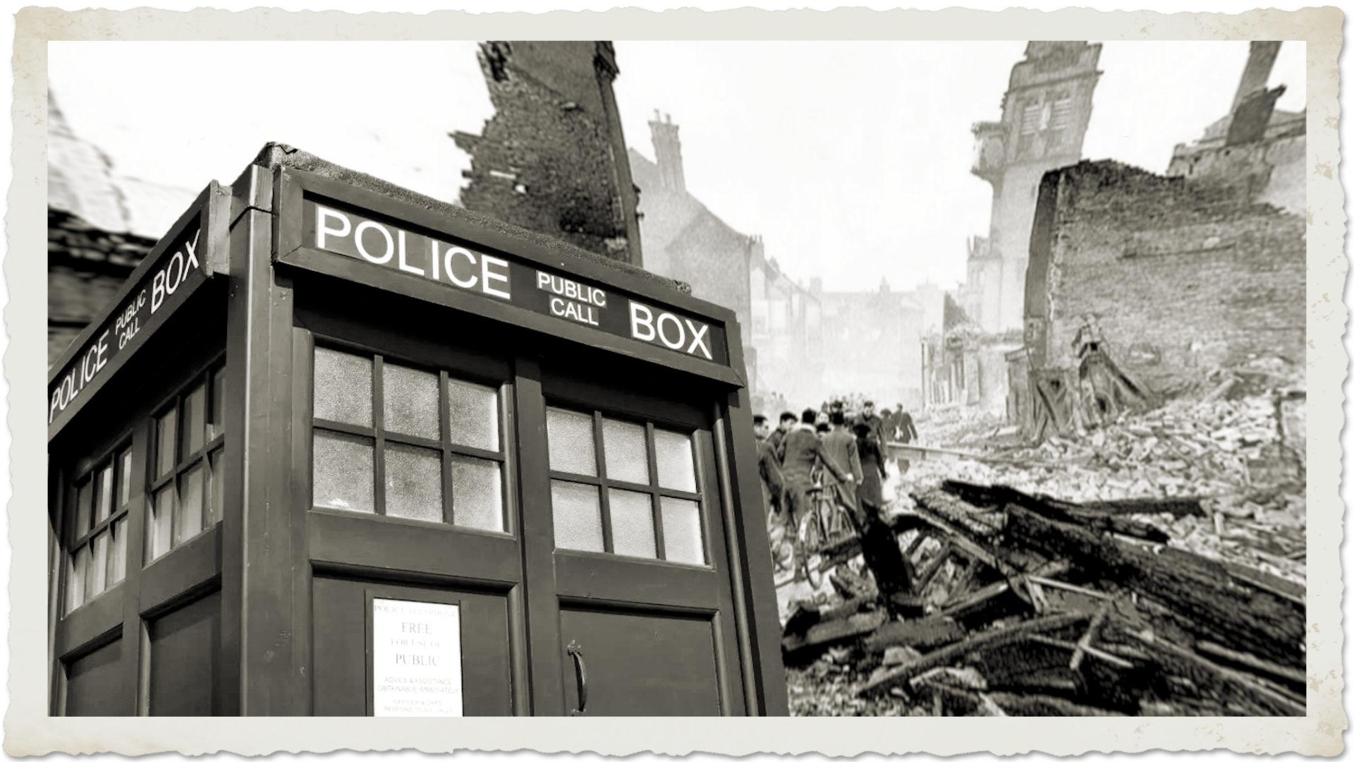 TARDIS in the London Blitz by Tarlan