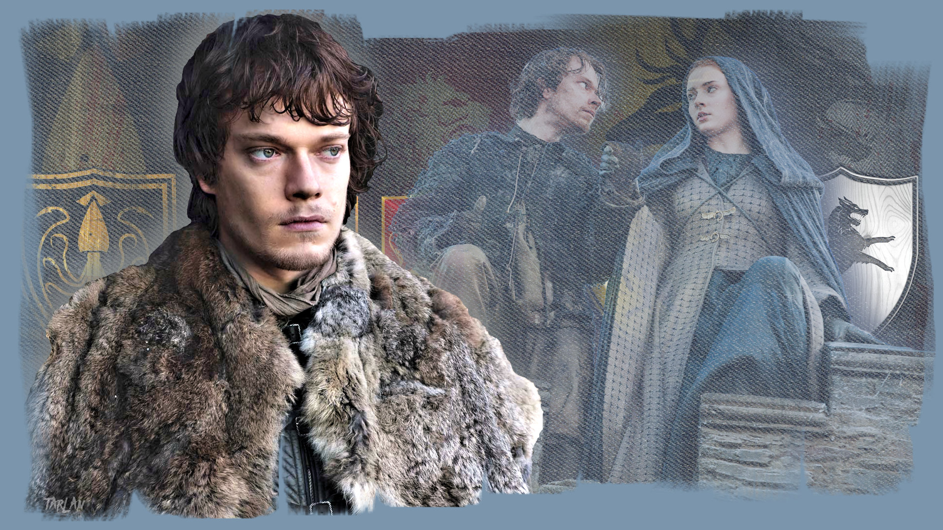 Game of Thrones - Theon and Sansa by Tarlan