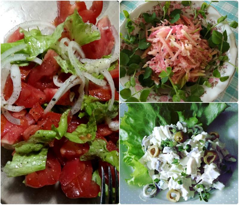 Салатики для праздничного обеда