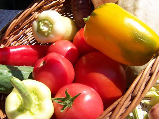 перец с томатами