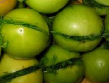 зеленые помидоры соленые1