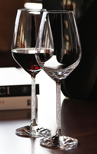 Swarovski Crystalline Red Wine Glasses