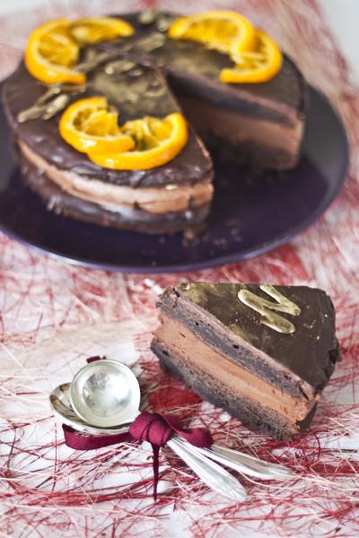 апельсин-шоколад торт