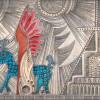 Дух индейца принесенного в жертву и его синяя собака