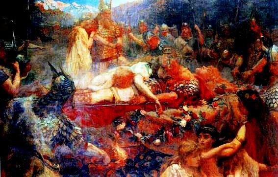 К. Батлер. Похороны Сигурда (Зигфрид и Брюнхильда).