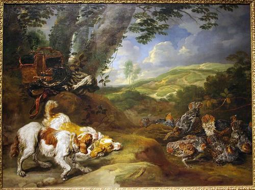 Ян Фейт. Охотничьи собаки и куропатки