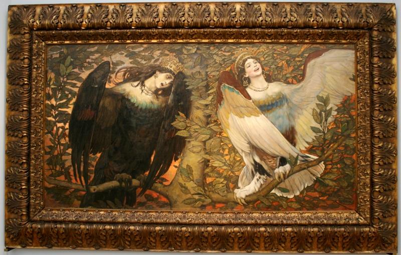 Виктор Васнецов «Сирин и Алконост. Песнь Радости и Печали» 1896
