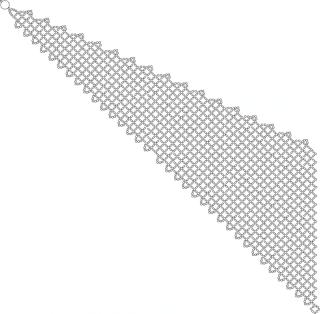 Колье состоит из 2-х частей, 1-я короче и шире, 2-я длинее и уже.  Плетётся сеткой.  Когда обе части сплетены, 2-я...