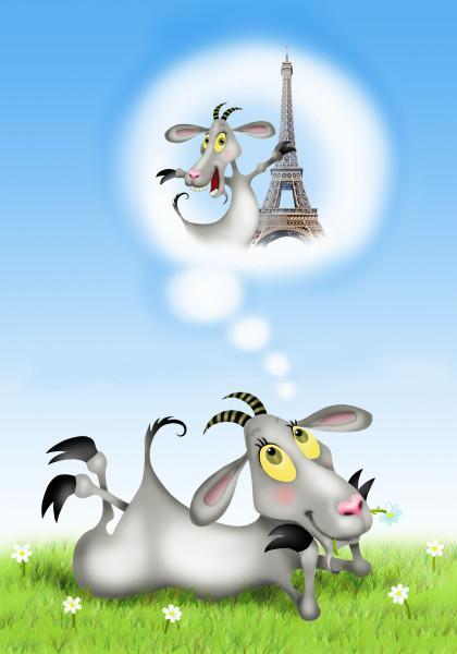 Прикольные картинки козы нарисованные, стихами люблю