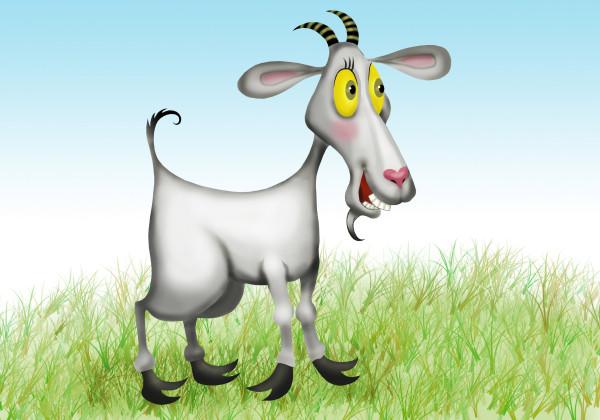 Коза смешные рисунки, открытка рисунок