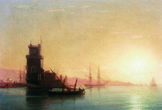 Айвазовский. Лиссабон. Восход солнца.
