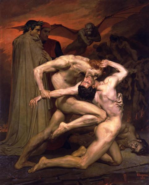 Данте и Вергилий в аду. Уильям Бугро