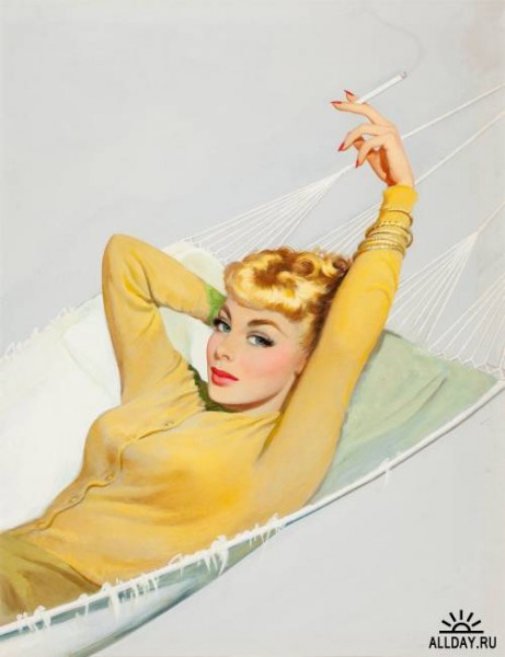 "\\""Blonde in a hammock\\"""