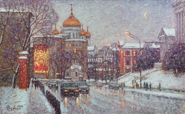Снегопад. Моховая улица