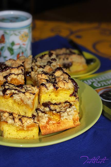 Нектариновые пироженые с хрусящей посыпкой ЖЖ