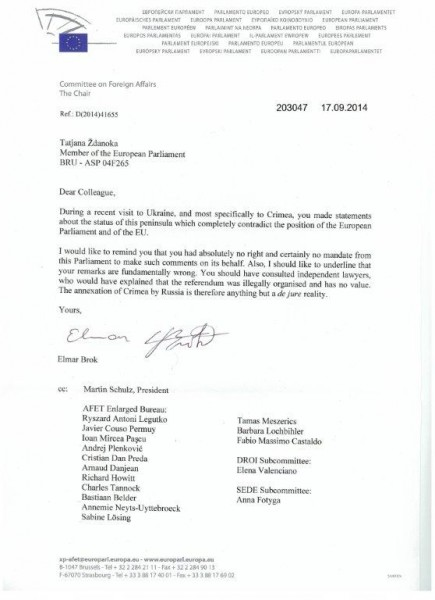 _140917_Committee on Foreign Affairs about your visit of Crimea 001