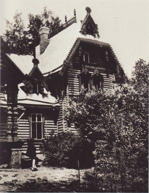 Фрагмент здания в усадьбе Киреево в Подмосковье