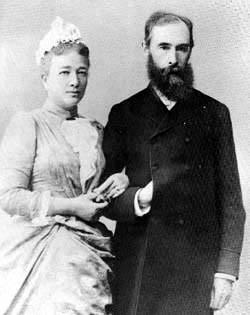 Павел Михайлович Третьяков с супругой Верой Николаевной (урожденной Мамонтовой)