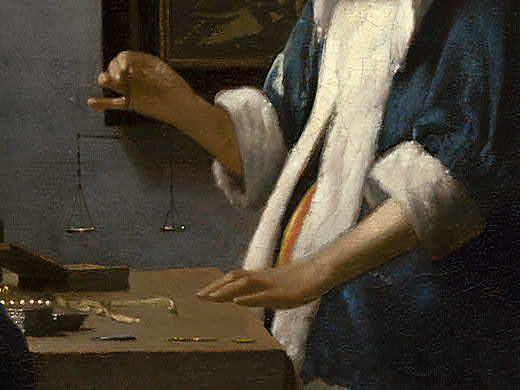 Johannes Vermeer - Woman Holding a Balance - Detail 6