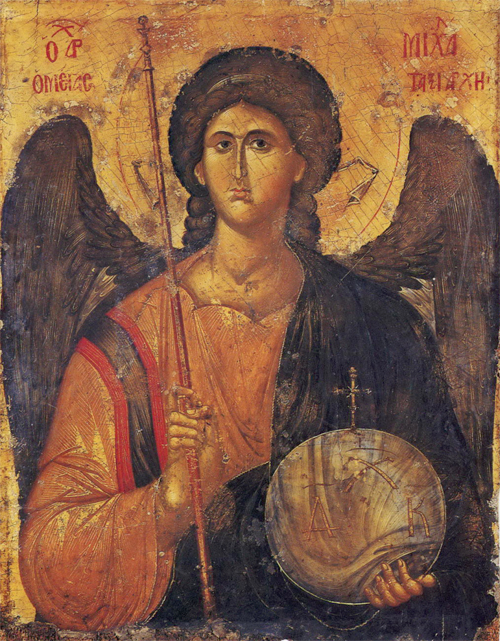 Архангел Михаил греч.икона 14 в. Визант. музей в Афинах
